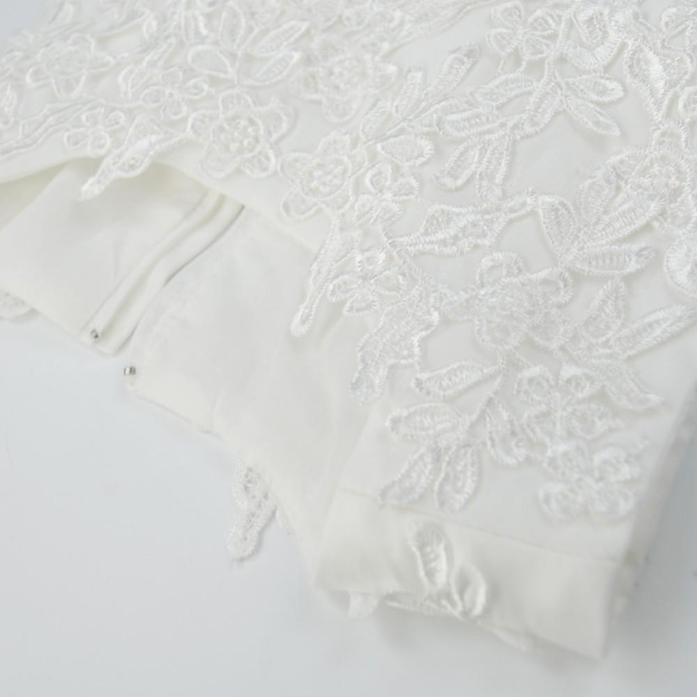 Скидки на Abbyabbie Ли Первое Причастие Свадьба Белый Бальное платье Невесты Дети Красоты Костюм Принцесса Кружева Платье Высокого качества 1