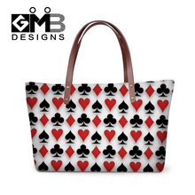 Персонализированные покер pattern сумки 11 цветов милый мультфильм женщин сумки на ремне новый дамы свадьбу кошелек crossbody мешок руки
