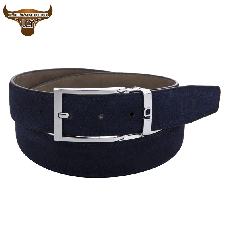 [LCY] Mens Belts Luxury 100% Cowhide Real Leather Belts for Men Eco-Friendly Designer Pin Buckle Suede Leather Strap 350333(China (Mainland))