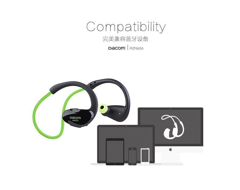 Original Dacom Athlete Bluetooth 4.1 headset Wireless headphone sports stereo earphone with microphone & NFC Free Shipping