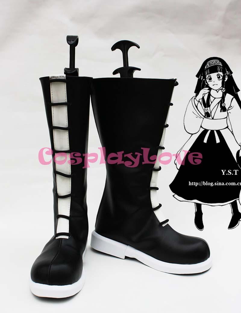 HUNTER x HUNTER Alluka Zoldyck Black Cosplay Shoes Boots Hand Made Custom made For Halloween Christmas