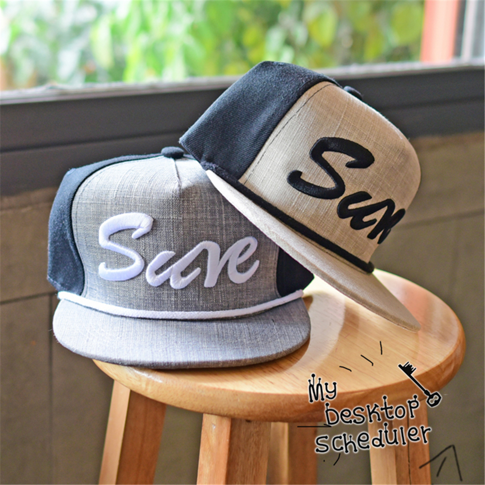 China factory custom 3d embroidery logo wholesale snapback back, linen color mixed black , SURE letter logo baseball hat(China (Mainland))