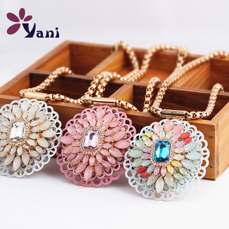 2015 Fashion Maxi Necklaces & Pendants Leopard Print Flower Resin Brand Choker Statement Necklace Luxury Jewelry For Women