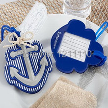 2014 NEW ARRIVAL High Quality Rubber Anchor Luggage Tag Favor+150sets/Lot+FREE SHIPPING(China (Mainland))