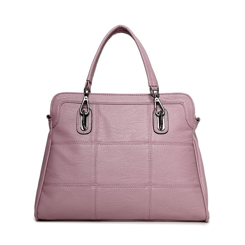 2017 New Genuine Leather Women Handbag Female Shoulder Bag Fashion Ladies Totes Famous Brand Pink Bolsa Feminina Crossbody(China (Mainland))