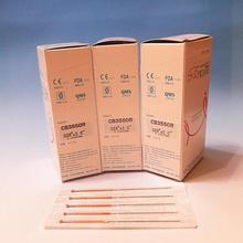 Chinese medicine meridian beauty needle stovepipe small knife needle 0.35 * 50mm 100pcs/pack(China (Mainland))
