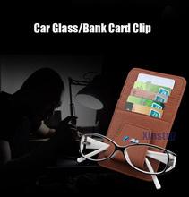 Genuine Leather  M Power M performance car glass clip sticker for BMW E39 E46 E60 E90 F10 F30 F18 E36(China (Mainland))