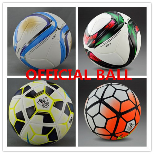 Top Quality 2015 Soccer Ball Final berlin Champions League Soccer Ball Particles football ball seamless TPU Size 5 Free Shipping(China (Mainland))