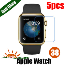 For APPLE WATCH 38MM Matte Anti-glare Screen Protector Guard Cover Protective Film (5pcs Film + 5pcs Cloth)