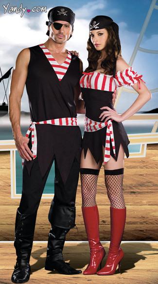 Compra hombres pirata disfraces online al por mayor de for Disfraces parejas adultos