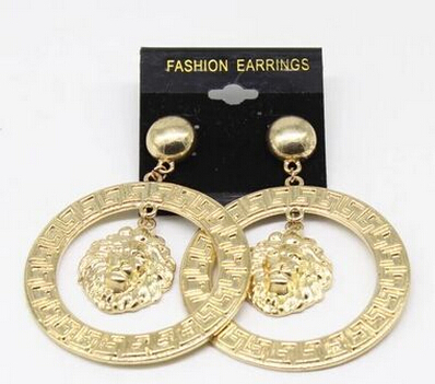 Hip hop product and the wind lion Earrings Fashion Sense Material: Alloy(China (Mainland))