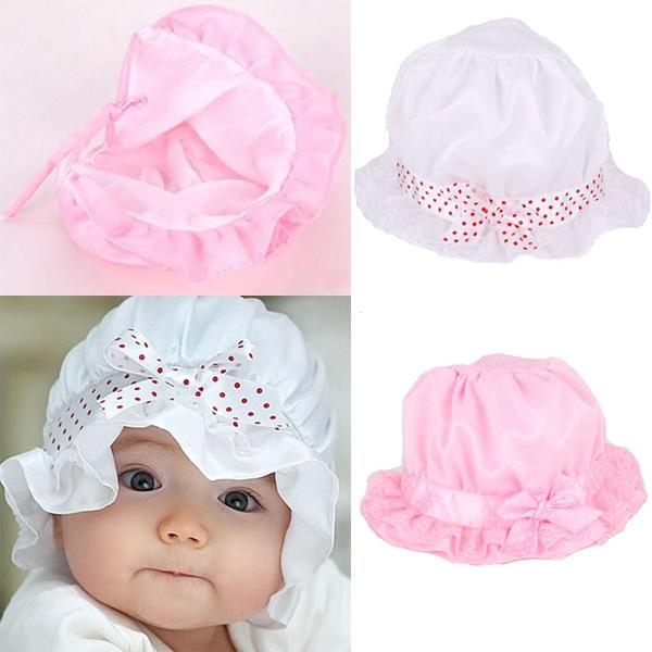 1PCS Free Shipping New 2014 Fashion Infant Visor Sun Hats Caps Soft Cotton Baby Sun Hats Children Girls Sun Polka Dot Hat(China (Mainland))