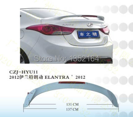 ELANTRA 2012  ABS    REAR   SPOILER   Primer     WITH LED<br><br>Aliexpress