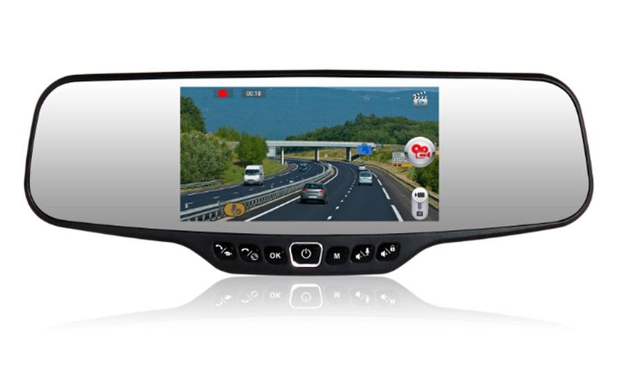 4.3'' Full 1080P Car camera Rearview Mirror waterproof Parking Back DVR G-sensor H.264 Dual Lens - V STAR E-COMMERCE store