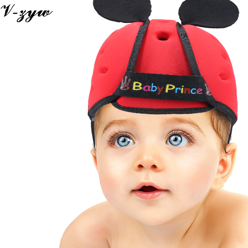 Baby toddler cap anti-collision protective hat safety helmet soft comfortable Security Protection Adjustable Kids Walk Learning(China (Mainland))