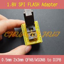 DIIY 1.8 В адаптер для Iphone или материнской платы 1.8 В SPI Flash QFN8 2 Х 3 мм 0.5 мм W25 MX25 может использовать на программистов, таких как CH2015