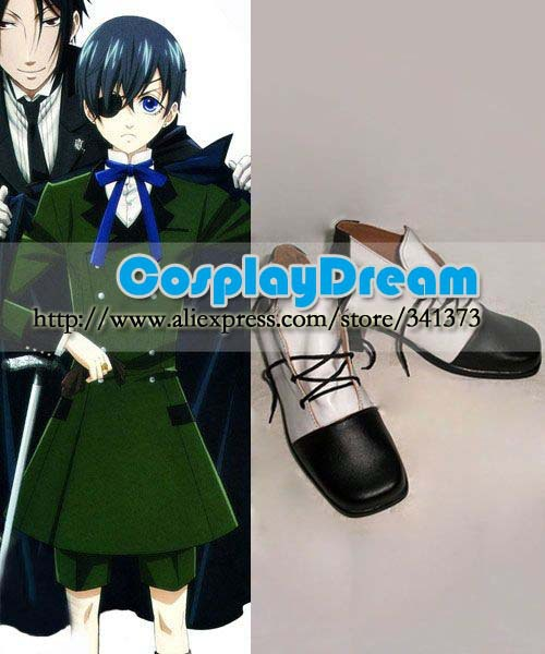 Customize boots Black Butler Ciel Cosplay Shoes anime party cosplay shoes - CosplayDream Store store