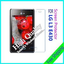 3pcs/lot For LG E430 High Clear Glossy Screen Protector Film, Screen Protective Film For LG E430