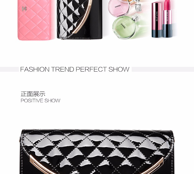 Fashion Trendy Quilted Bag Occident Style Women PU Classic Clutch Bag Classy Diamond Lattice Ladies Chain Bag Crossbody Bag