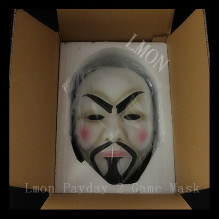 2016 New Desin High Quality V For Vendetta Mask Resin Collect Home Decor Party Cosplay Lenses Anonymous Mask Guy Fawkes Mask Toy(China (Mainland))