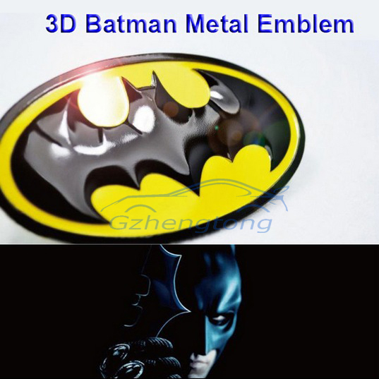 1X 3D Batman Gobo Symbol Metal Alloy Emblem Badge Sticker Decal For Honda Toyota Dodge Ford BENZ VW(China (Mainland))