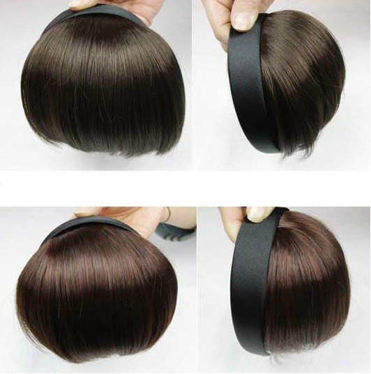 New Headband Style Synthetic Hair Full Fringe Hair ...