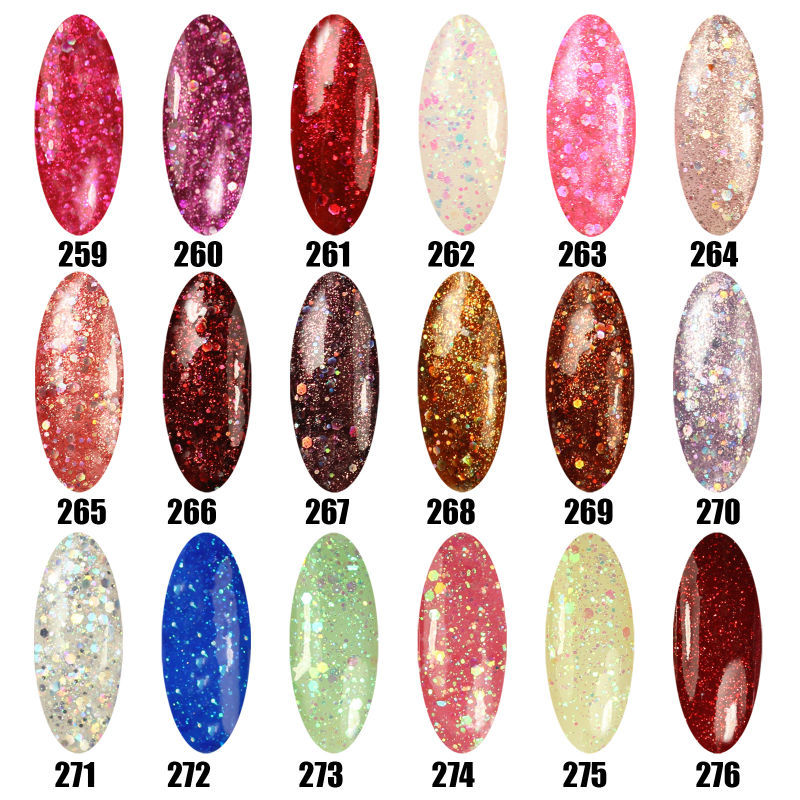 Limited Promotion Hot Sale Nail Gel Polish 8ml LED Color UV Gel Polish Long Lasting Soak off Gel Lacquer(China (Mainland))