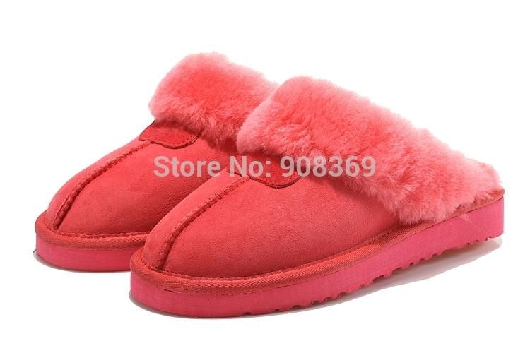 int'l Brand Sheepskin 5125! Genuine Leather Australia Suede 100% sheep wool inside Winter Warm Indoor slippers for women(China (Mainland))