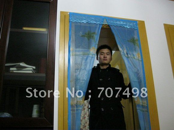 2012 Lixin Shengli mosquito net magnetic door curtain screen doors magnetic fly screen close automatically custom sizes welcome(China (Mainland))