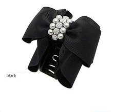 Professional for hair 2015 Brand New Hair Accessories Fashion Lovely Pearl Bow Bowknot Hair claw Hair