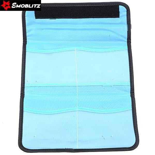 CosyLife (EMOBLITZ) Rectangle 4-Pockets Protective Mutispandex Bag for UV Filter Protective Lens Polarizer - Black VBG-23(China (Mainland))