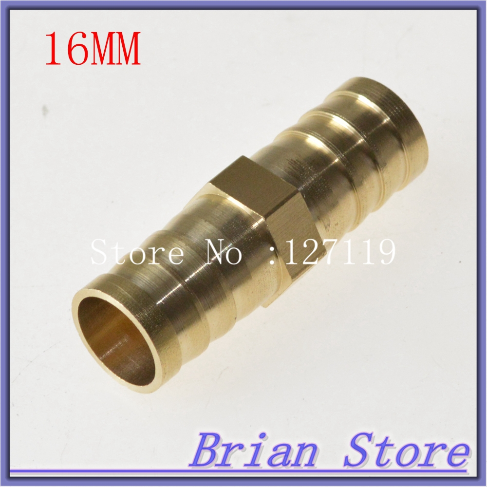 5 Pieces 16mm Hose Barb Length 50mm Brass Barbed Pipe Fitting Coupler Connector Adapter 232psi(China (Mainland))