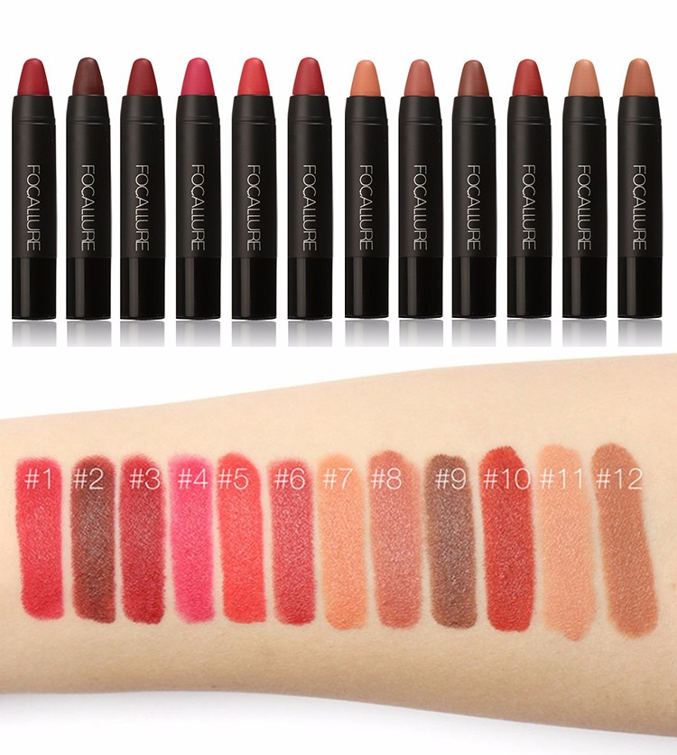 12 color lip stick Lip balm moisturizing lipstick lasting flame dance does wear dark lipstick Moisturizer Lipstick Waterproof