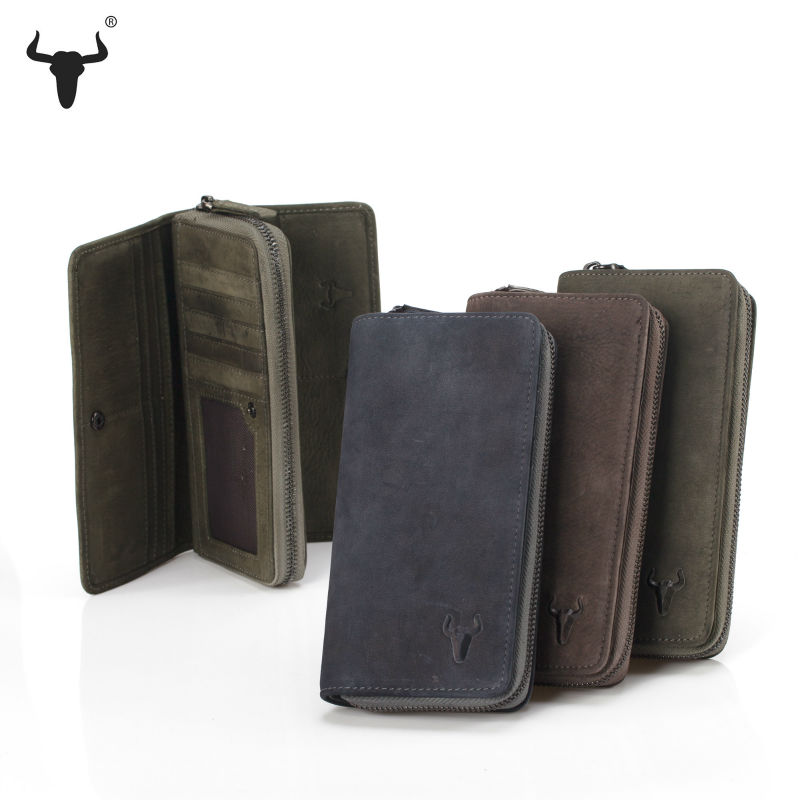 Imported Leather Wallet Women Top Genuine Leather Vintage Wallets Brush Color Leather Cowhide Travel Purse Handmade Practical(China (Mainland))