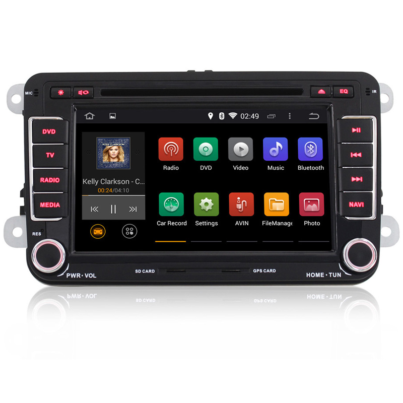 """7"""" 4 Cores Android 4.4.4 Car DVD Radio for VW Turan/Skoda/Scirocco/T6 Transporter/Bora,Quad Core HD WIFI/3G+GPS+BT+External MIC(China (Mainland))"""