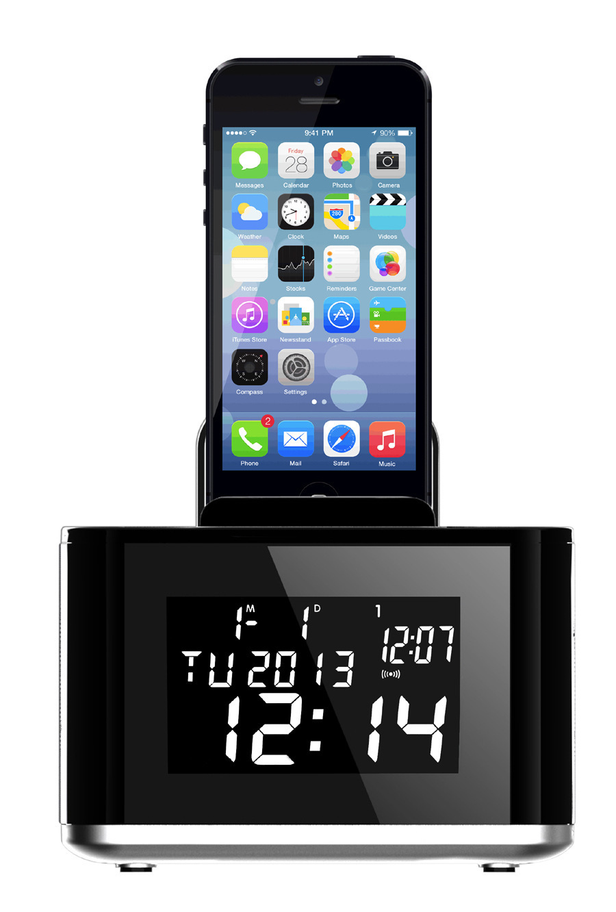 clock usb picture more detailed picture about 2015 new aj86 lcd display digital radio dual. Black Bedroom Furniture Sets. Home Design Ideas