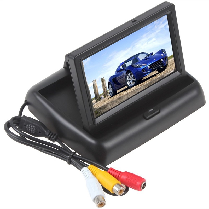 4.3 inch TFT LCD Car Monitor Car Rearview Reverse Parking Monitor with 2-channel Video Input(China (Mainland))