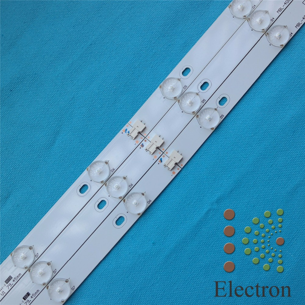 3set 40'' 775mm*17mm 10leds LED Backlight Lamps LED Strips w/ Optical Lens Fliter for TV Monitor Panel New(China (Mainland))