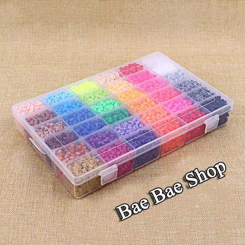 24 Color 13000pcs EVA Food Grade Perler Beads 2.6~5mm Hama Beadswith Storage Box for Children Educational Jigsaw Puzzle Toys(China (Mainland))