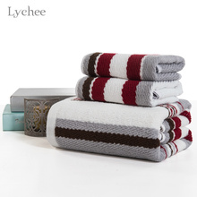 Buy Lychee 1 piece 33*70cm Sports Hand Towel Cotton Square Towel Yarn Dyed Stripes Face Towel Bath Towel Home Textile for $4.09 in AliExpress store