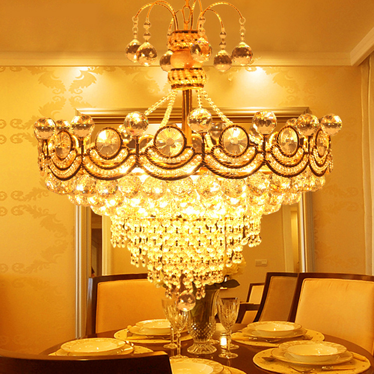 Crystal Chandelier LED Chandeliers Lustres D45 D60 Pendientes Modern Luxury Crystal Chandelier E14 Pendientes(China (Mainland))