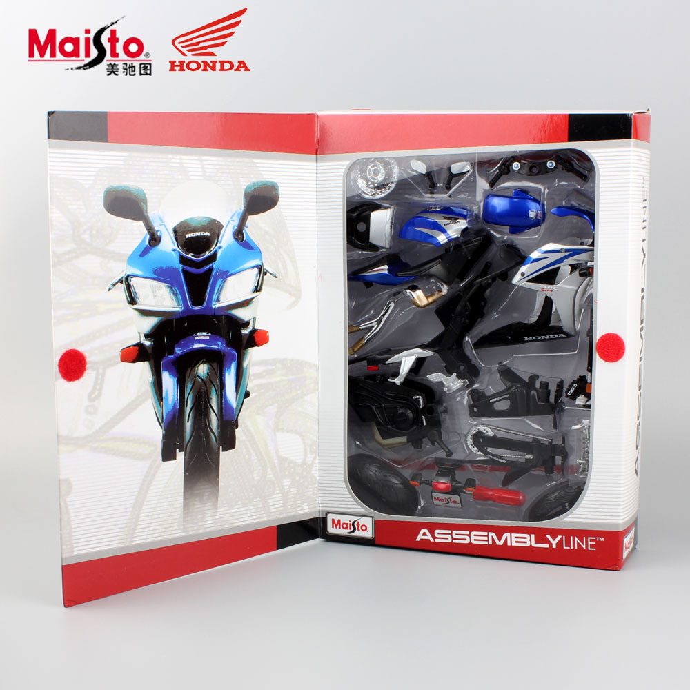 Child's hot miniature Honda CBR600RR DIY Assemble model motorcycle diecast tank metal die cast sports race car toys for Kid 2017(China (Mainland))