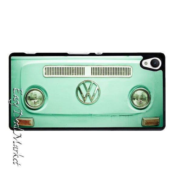 Vintage Volkswagen Bus Cover Case for Sony xperia Z Z1 Z2 Z3 Z4 Z5 Compact C C3 C4 C5 M2 M4 T2 T3 E4 X XA Performance(China (Mainland))
