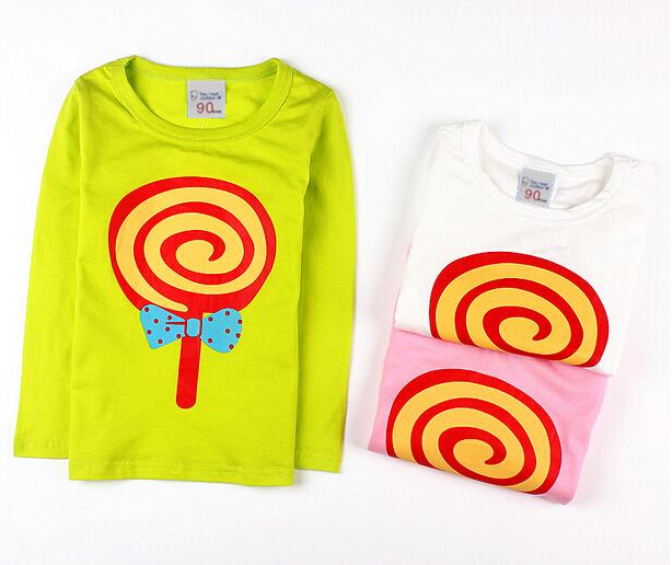 New 2015 children's clothing child long-sleeve T-shirt boy girls child girls the three-dimensional basic shirt Colorful Zebra()