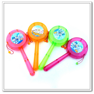 Cartoon plastic rattle drum luminous rattle rattles toy baby toy