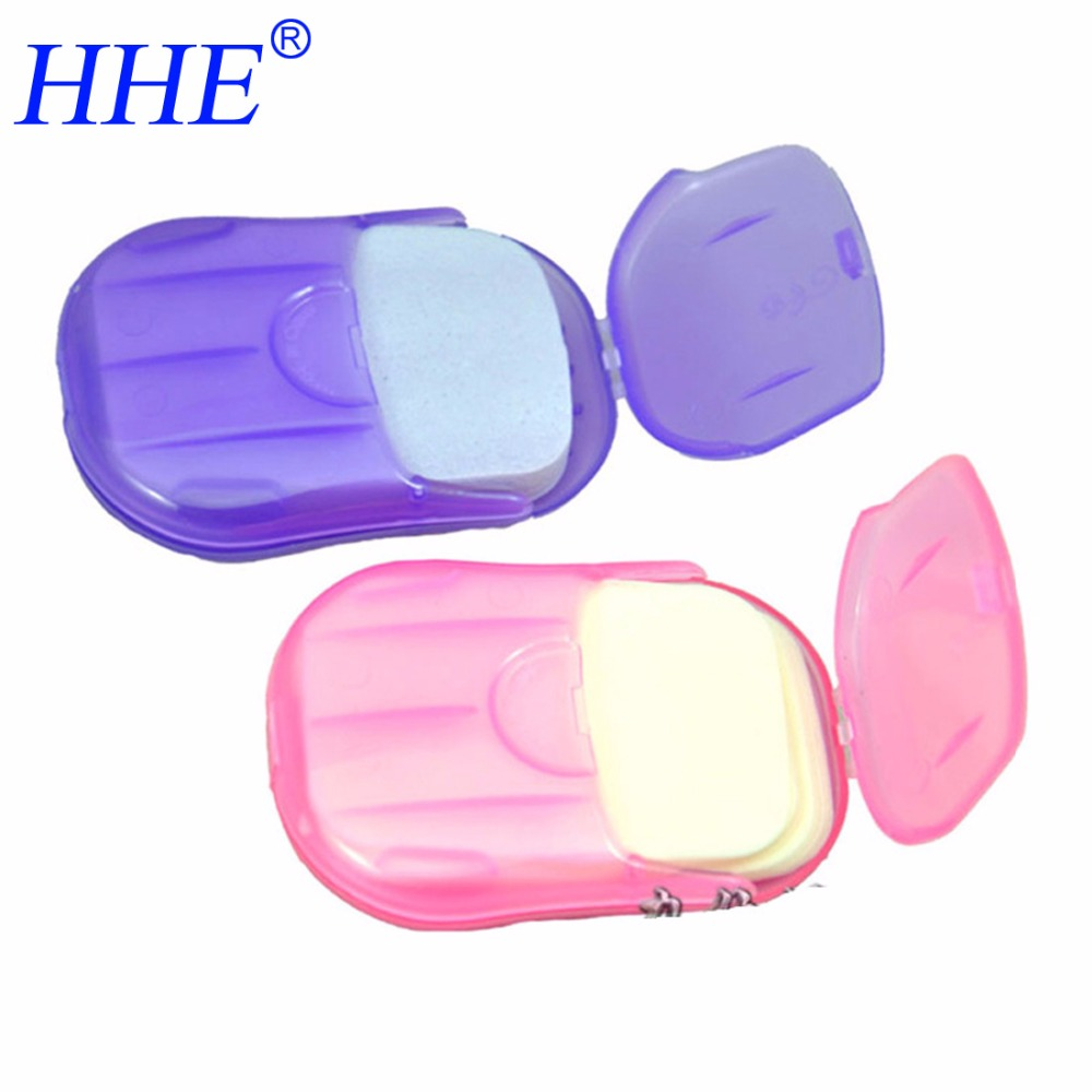 Convenient Washing Hand Soap Travel Scented Slice Sheets Foaming Box Paper Soap