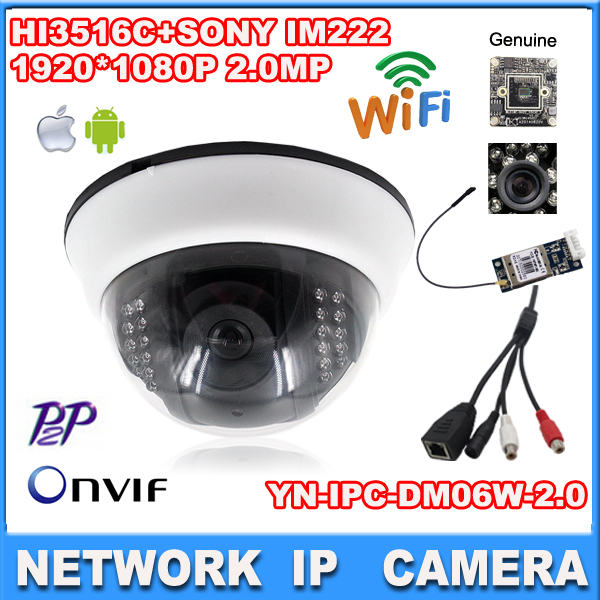 Wireless 1080P IP Camera  indoor 2.0mp wifi camera nignt vision audio output cctv camera HI3516C+SONY IM222 1920*1080 cctvcamera<br><br>Aliexpress