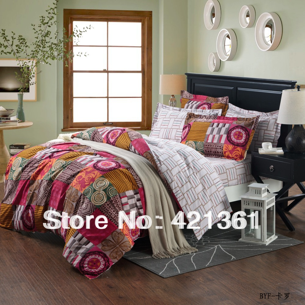 annual ring Brushed fabric bedding Reactive printing