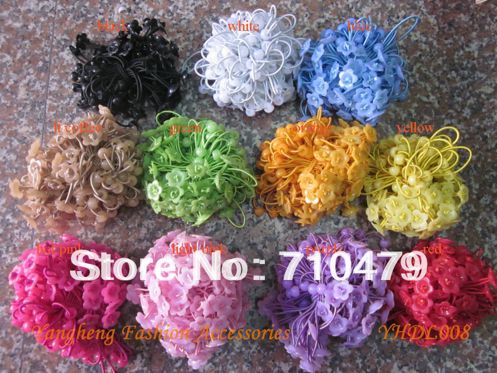 Free shipping 100pcs/color/bundle DIY elastic hair bands for girls hair tie(China (Mainland))