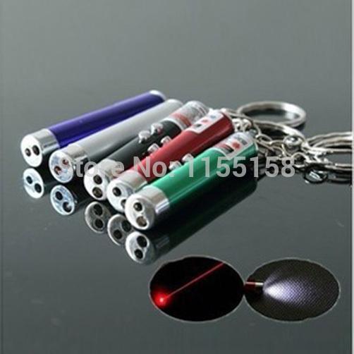A14 Multi-fonction red laser pen light mini led flashlight money detector lamp combination pointer pen pointer T1387 P(China (Mainland))